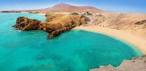 Playa de Papagayo en Yaiza, Lanzarote.