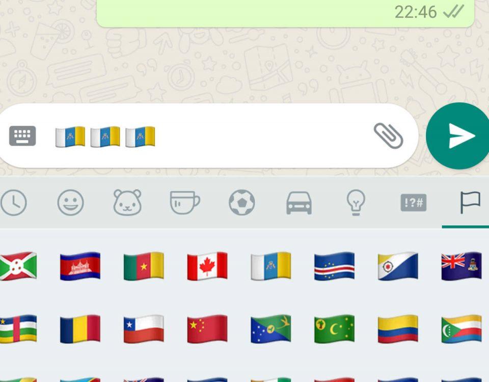 bandera de Canarias WhatsApp