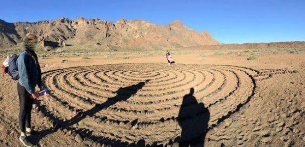 201707 espiral de piedras Teide esoterismo