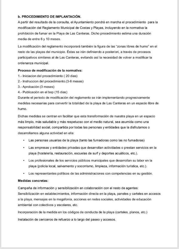 201712 Las Canteras playa 100 libre de humo en 2018