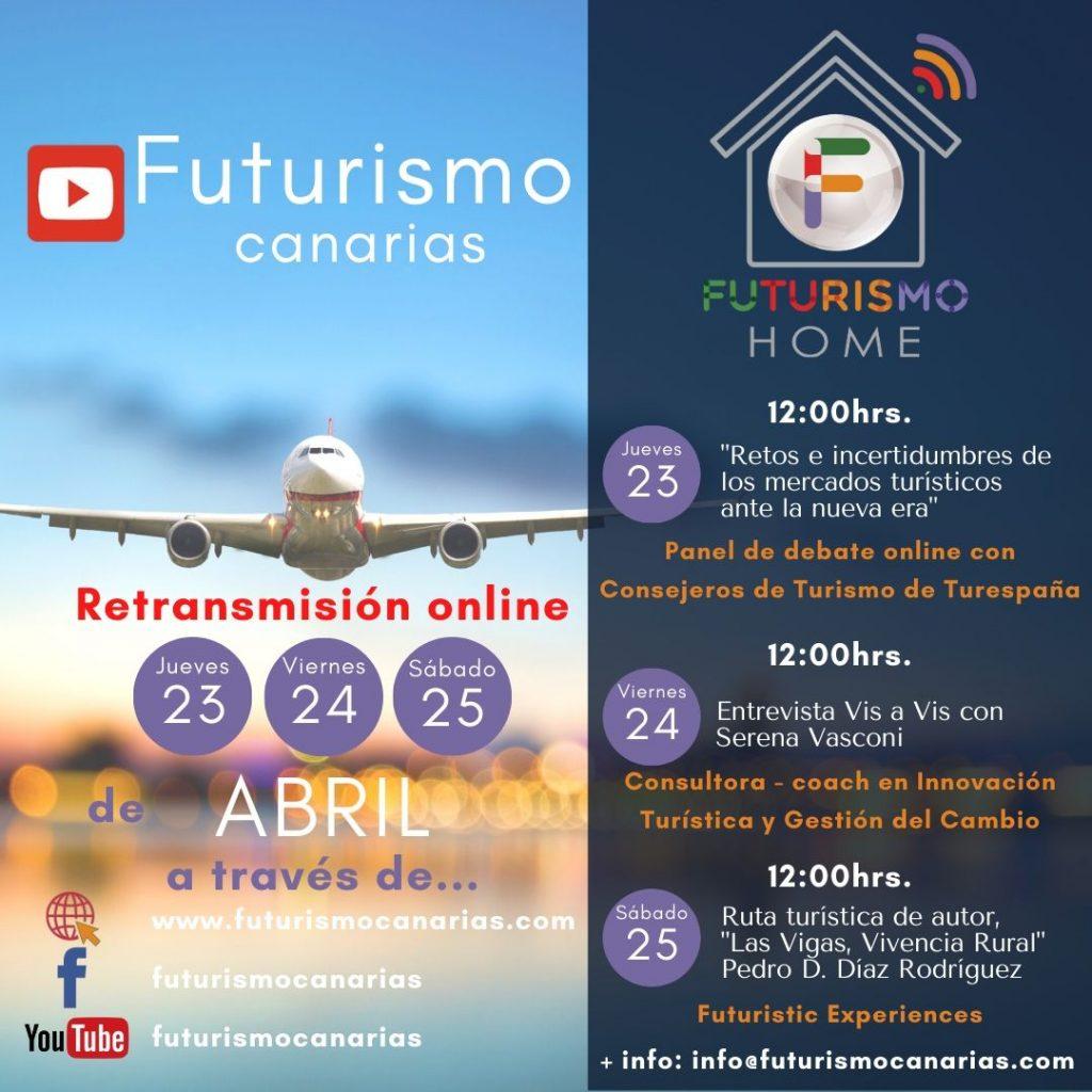 agenda del evento de turismo en canarias, futurismo home