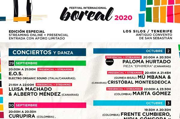 Festival Boreal 2020 - Programa