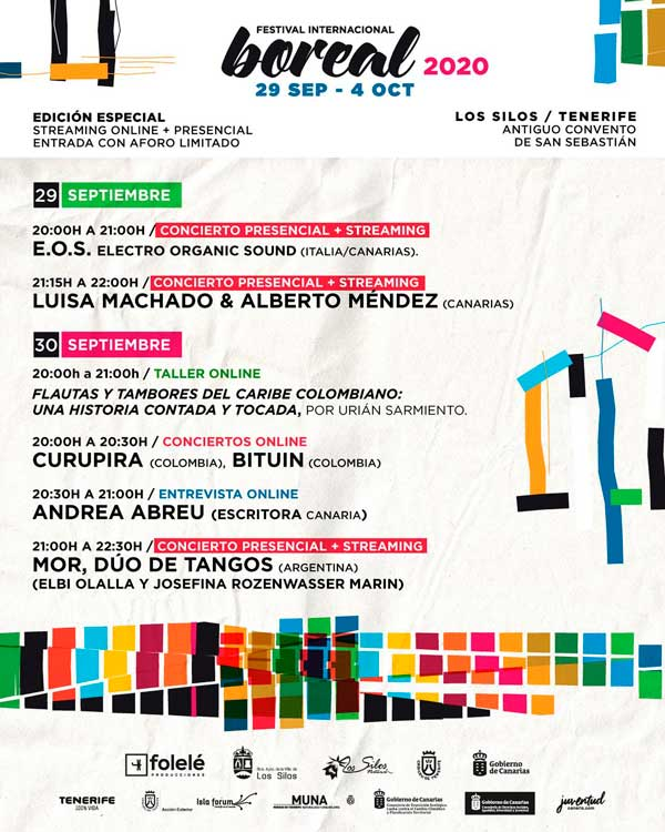 Programa Festival Boreal 2020