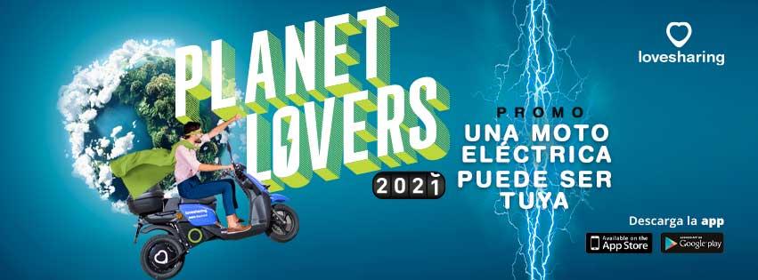 lovesharing sortea una moto electrica planet lovers 2021